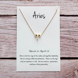 ♈️ Aries Horoscope Charm Necklace